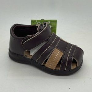 Kids Shoes Grosby Lee Choc Multi Leather Sandal